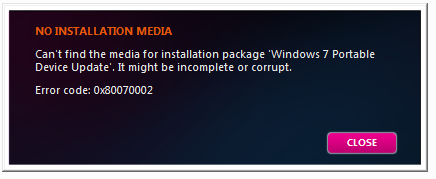 No Installation Media?