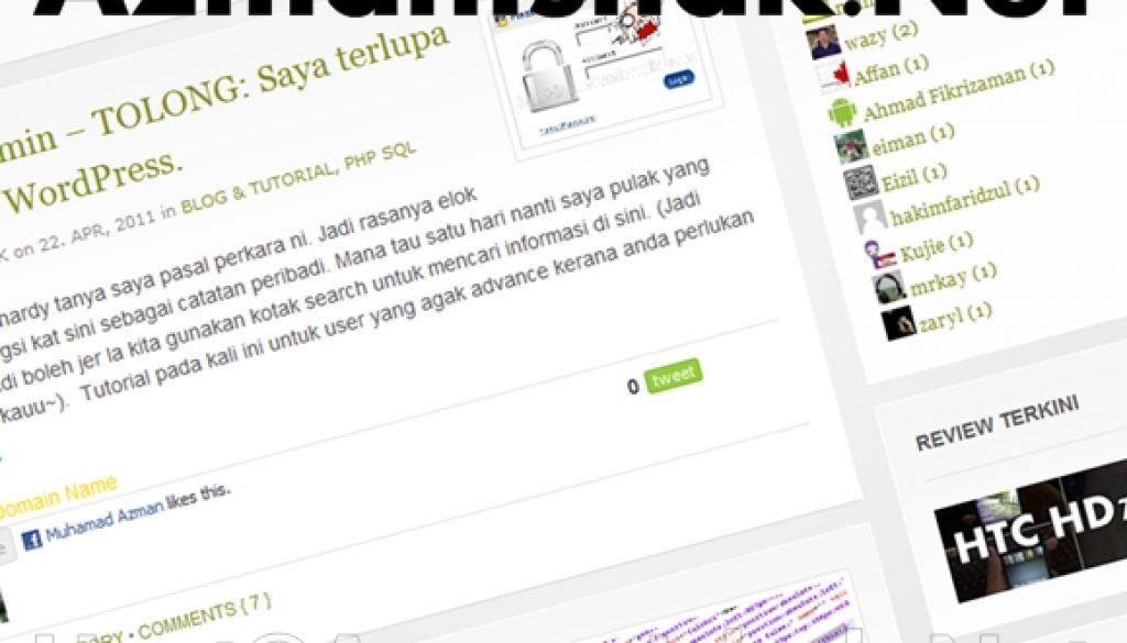 AzmanIshak.Net kini mula beroperasi