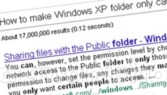 How to make Windows XP folder only can be access by certain people