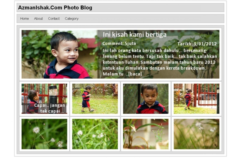 Sedang merangka thema untuk photo-blog