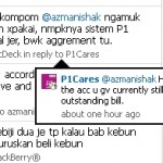 Saya kecewa dengan tindakan pihak @P1Cares