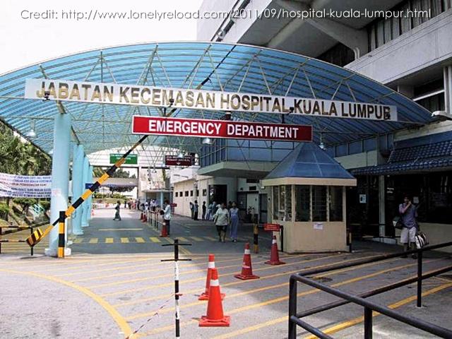 Unit Kecemasan - Hospital Besar Kuala Lumpur. Credit to: lonelyreload.com
