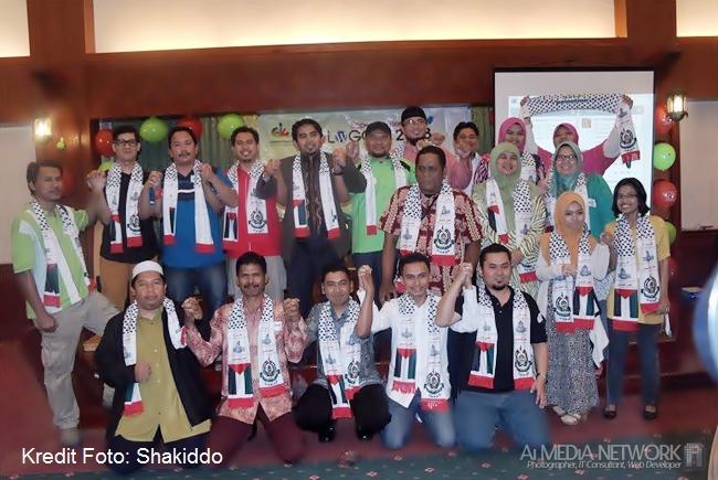 Inilah dia antara barisan Official Blogger for Gaza, Malaysia