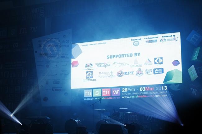 Antara senarai penaja-penaja Malasysia Social Media Week 2013