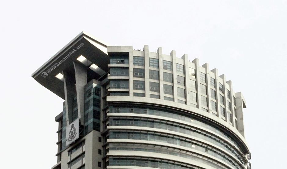 Tinjauan dari atas bangunan Ibu Pejabat Polis Bukit Aman