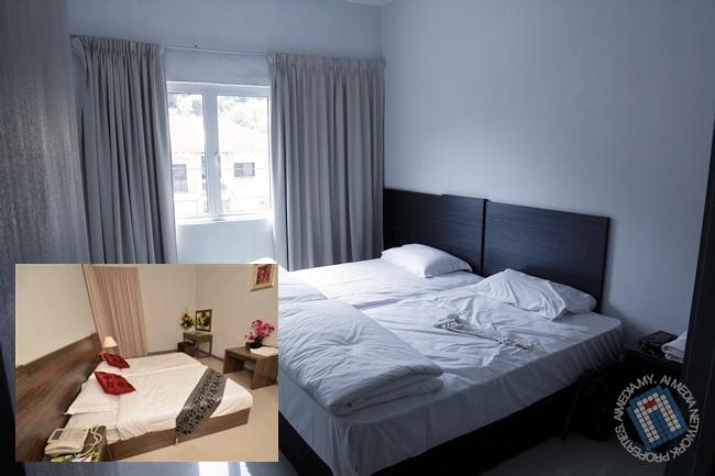 Dengan mengabaikan cadar kedut dan tuala di atas katil. Bandingkan sendiri gambar iklan dan sebenar