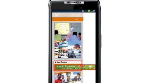 Paparan iklan yang terkeluar pada sesetengah telefon bimbit, telah diperbaiki
