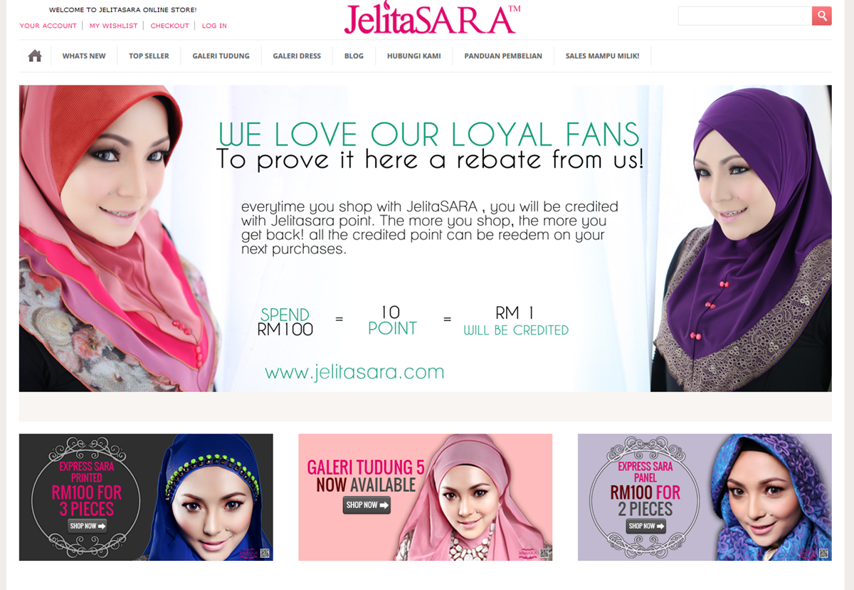 Laman web JelitaSARA.Com