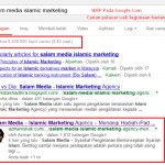 SEO Challenge  :  Salam Media Islamic Marketing Agency