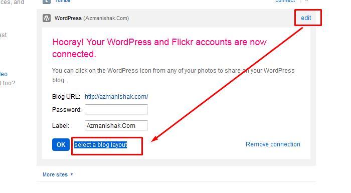 Sekarang ni, kita nak tweak sikit template layout kat flickr, supaya mesra blog kita