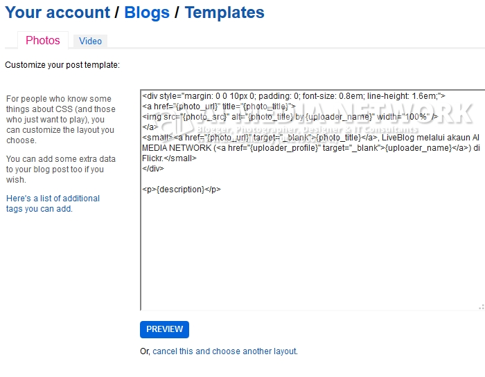 Kalau pakai default template, macam tak gempakkk jee :p