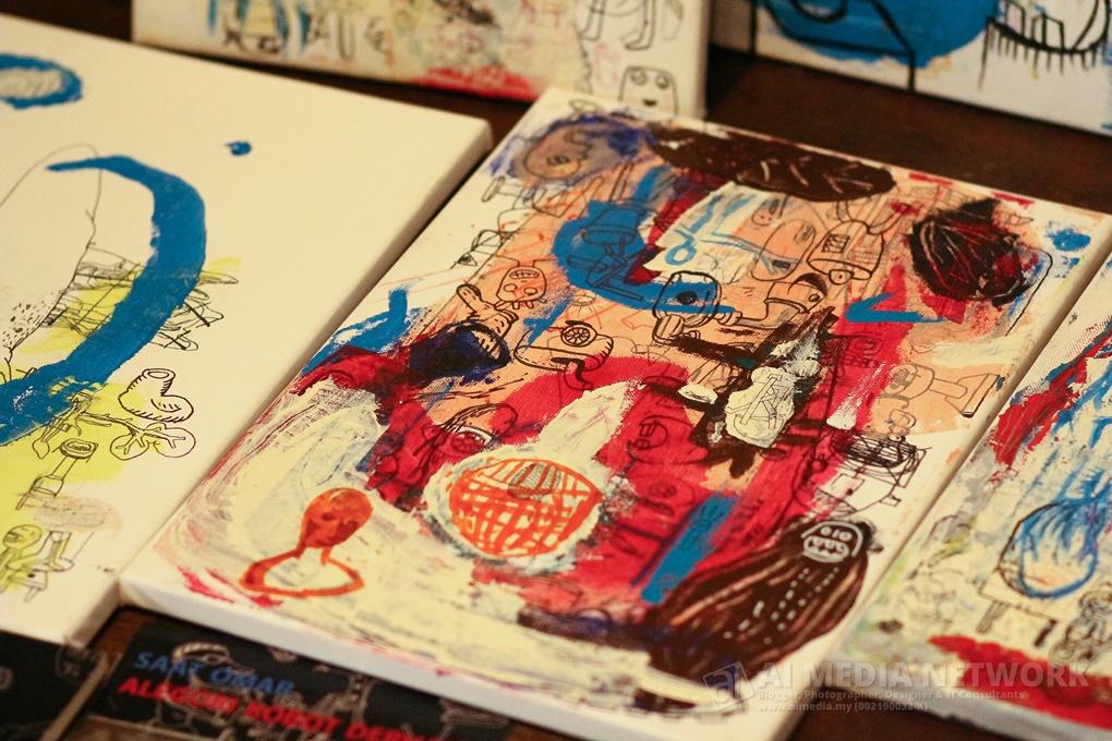 Pelbagai craft, doodle art, abstract semua ada. Terkesima dengan hasil seni diaorang
