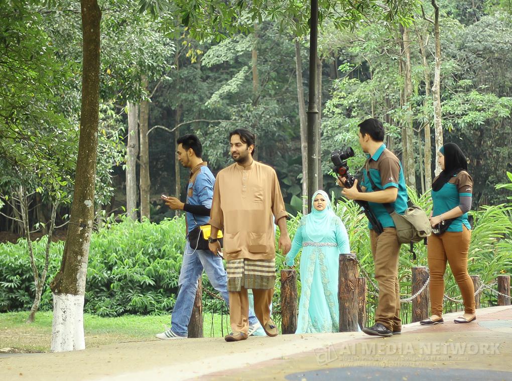 Taman Tasik Perdana ni selalu jadi tempat untuk wedding photoshoot.