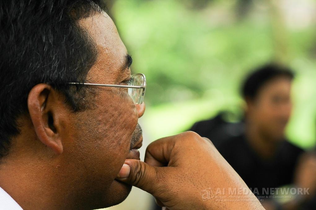Khusuk mendengar, sewaktu sesi penutup dan soal jawab