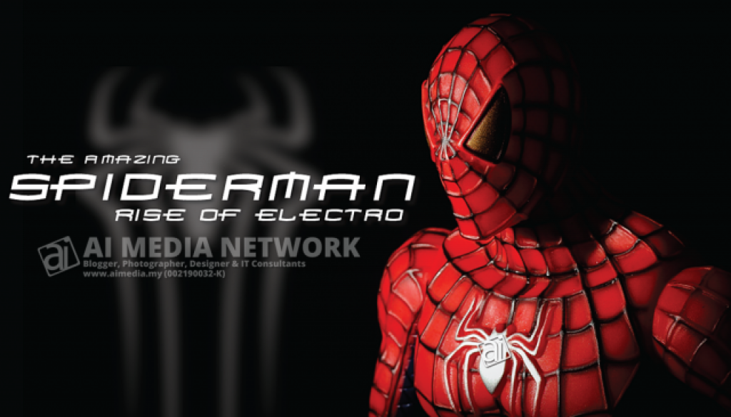 Spiderman Poster 2014 - Potia kata... boleh hantar invoice kat Marvel... hahaha Eh? Marvel ke Capcom?