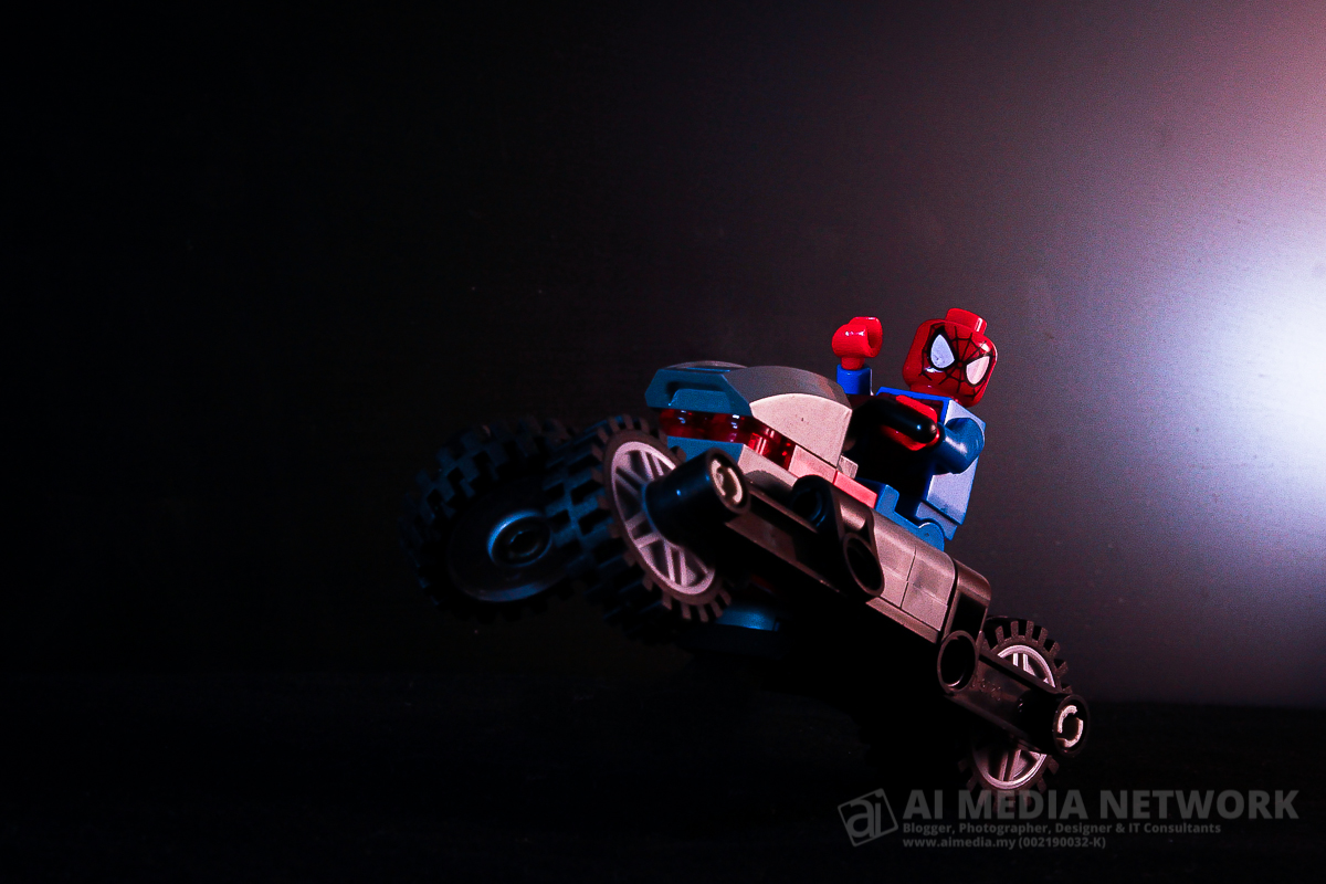 Gambar 7: Set lego Siderman dan Spidey Bike - The Willie Spiderman