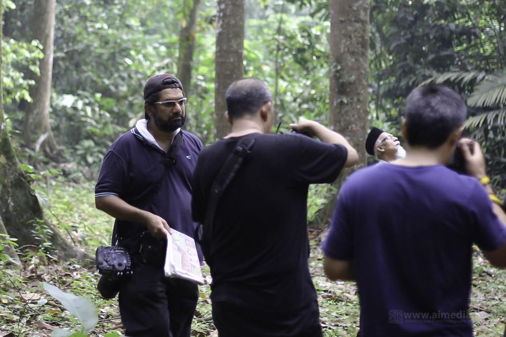 Behind the scenes dalam hutan. Memang menyeronokkan betul la!